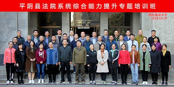 平阴县法院系统综合能力提升专题培训班